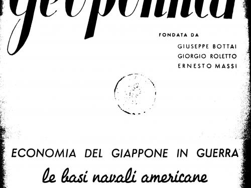 Geopolitica, Bottai, Massi e Roletto, n. 1, gennaio 1939
